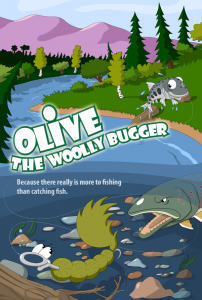 Olive the woolly bugger animated movie poster
