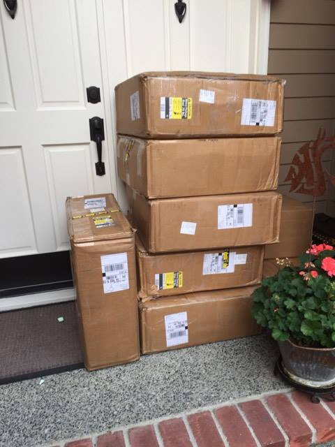 That's about 1,620 books that showed up on my doorstep.